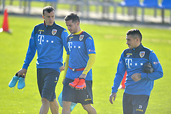 November 13, 2017 - Mogosoaia, Romania - Vlad Chiriches, Alexandru Chipciu, Nicolae Stanciu of Romania Football Team during a training session at Mogosoaia, Romania on 13 November 2017. (Credit Image: © Alex Nicodim/NurPhoto via ZUMA Press)