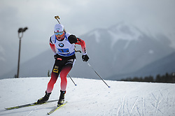 February 8, 2019 - Calgary, Alberta, Canada - Boe Johannes Thingnes (NOR) is competing during Men's Relay of 7 BMW IBU World Cup Biathlon 2018-2019. Canmore, Canada, 08.02.2019 (Credit Image: © Russian Look via ZUMA Wire)