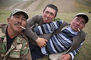 Cattle herders (from L-R) Kederbek, Anarbek and Taku, from Naryn province, Kyrgyzstan.