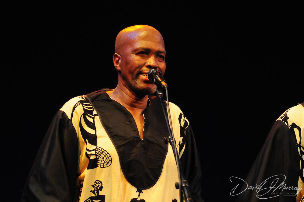 Ladysmith Black Mambazo member Albert Mazibuko performing at The Music Hall, Portsmouth, NH