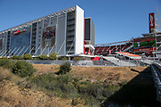 Oct 07, 2018; Santa Clara, CA, USA; General view of Levi's Stadium prior to an NFL game between San Francisco 49ers and the Arizona Cardinals. (Spencer Allen/Image of Sport)