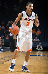 Virginia guard Mustapha Farrakhan (2) in action against Shepherd.  The Virginia Cavaliers defeated the Shepherd Rams 87-52 in an NCAA basketball exhibition game at the University of Virginia's John Paul Jones Arena in Charlottesville, VA on November 9, 2008.