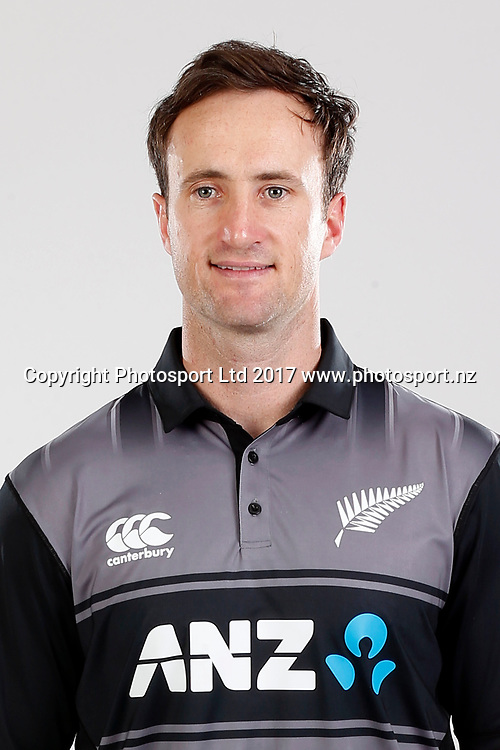Neil Broom, T20 Headshot, New Zealand Cricket. Black Caps headshot and portrait session. Pullman Hotel. Auckland, New Zealand. Thursday 14 September 2017. © Copyright image: William Booth / www.photosport.nz