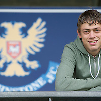 St Johnstone's Murray Davidson pictured at McDiarmid Park today ahead of tomorrow's game against local rivals Dundee....28.09.12<br /> Picture by Graeme Hart.<br /> Copyright Perthshire Picture Agency<br /> Tel: 01738 623350  Mobile: 07990 594431