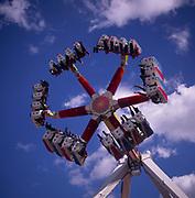 A295G4 Pleasurewood Hills funfair ride Suffolk England