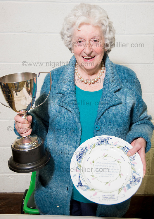 world dock pudding championship winner 88 year old  Dorothy Hirst from Cragg Vale. The 2017 Dock Pudding World Championship took place on Sunday 23rd April in the Mytholmroyd Community Centre in West Yorkshire.