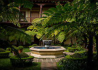 Antigua, Guatemala - March 12, 2015: The courtyard of the Palacio de Dona Leonor hotel.  Like so many of charming hotels and restaurants in Antigua, Palacio de Dona Leonor is a restored Spanish-style mansion built between 1541 and 1543. CREDIT: Chris Carmichael for The New York Times