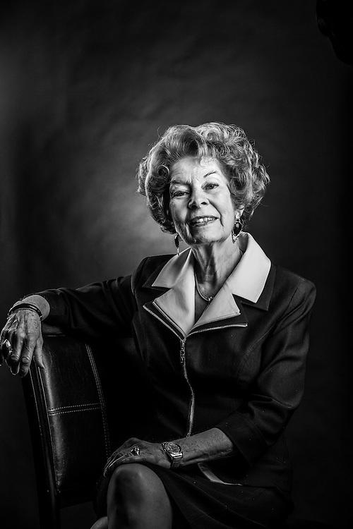 JoAnn Losee portrait in the broadcast studios on the Campus of Utah Valley University in Orem, Utah Tuesday August 12, 2014. (August Miller)