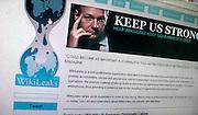 Nederland, Ubbergen, 8-12-2010Screenshots van de site Wikileaks.Foto: Flip Franssen/Hollandse Hoogte