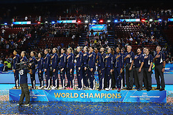 TEAM USA<br /> AWARDING CEREMONY<br /> VOLLEYBALL WOMEN'S WORLD CHAMPIONSHIP 2014<br /> MILAN 12-10-2014<br /> PHOTO BY FILIPPO RUBIN
