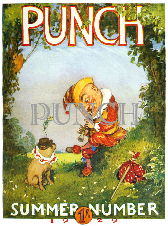 (Punch Summer Number 1929 Cover)