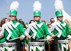 Sep 6, 2015; Huntington, WV, USA; The Marshall Thundering Herd prep band performs as their team  arrives at Joan C. Edwards Stadium prior to their game against the Purdue Boilermakers. Mandatory Credit: Ben Queen-USA TODAY Sports