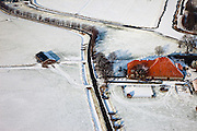 Nederland, Noord-Holland, Gemeente Abcoude, 07-01-2010; winterlandschap met stolpboerderij de Angstel ten Zuiden van Abcoude..Winter landscape with farmhouse south of Amsterdam..luchtfoto (toeslag), aerial photo (additional fee required).foto/photo Siebe Swart