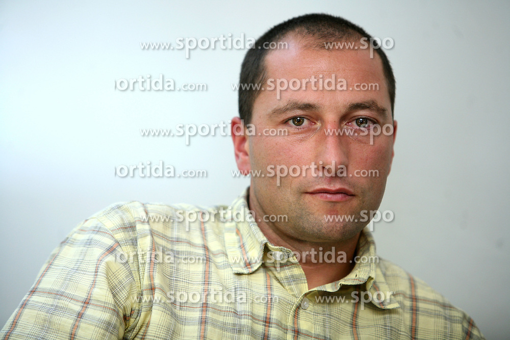 Tomas Globocnik  at Press conference after Summer World Championship in rolling in Haute Maurienne Vanoise, France, on September 29, 2008, in SZS in Ljubljana.  (Photo by Vid Ponikvar / Sportal Images)