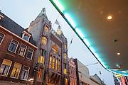 Historisches Kino Tuschinski , Dämmerung, Nacht, Amsterdam, Holland, Niederlande