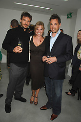 Left to right, JAMIE WRIGHT son of Richard Wright of Pink Floyd, KATIE FITCH and NICHOLAS FITCH at the opening party for the new Alison Jacques Gallery, Berners Street, London followed by a party at the Sanderson Hotel, Berners Street on 3rd May 2007.<br /><br />NON EXCLUSIVE - WORLD RIGHTS