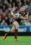 May 25th 2011: Billy Slater runs the ball during game 1 of the 2011 State of Origin series at Suncorp Stadium in Brisbane, Australia on May 25, 2011. Photo by Matt Roberts/mattrIMAGES.com.au / QRL