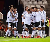Valencia's players  during La Liga match. November 21, 2015. (ALTERPHOTOS/Javier Comos)