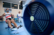 OLYMPIC SILVER MEDALIST ROWER BARTLOMIEJ PAWELCZAK (POLAND) WHILE BREATHING ARTERIAL BLOOD GAS ( GAZOMETRIA ODDECHOWA ) IN INSTITUTE OF SPORT AT PHYSIOLOGY DEPARTMENT IN WARSAW...POLAND , WARSAW , APRIL 12, 2011..( PHOTO BY ADAM NURKIEWICZ / MEDIASPORT )..PICTURE ALSO AVAIBLE IN RAW OR TIFF FORMAT ON SPECIAL REQUEST.