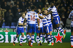 Reading celebrate Roy Beerens of Reading goal, Reading 3-2 Brentford - Mandatory by-line: Jason Brown/JMP - 14/02/2017 - FOOTBALL - Madejski Stadium - Reading, England - Reading v Brentford - Sky Bet Championship