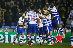 Reading celebrate Roy Beerens of Reading goal, Reading 3-2 Brentford - Mandatory by-line: Jason Brown/JMP - 14/02/2017 - FOOTBALL - Madejski Stadium - Reading, England - Reading v Brentford - Sky Bet Championship