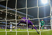 Goal! Sheffield Wednesday forward Sam Winnall (11) scores a goal 2-0 during the The FA Cup match between Queens Park Rangers and Sheffield Wednesday at the Kiyan Prince Foundation Stadium, London, England on 24 January 2020.