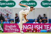 Morne Morkel of Surrey opens the bowling for Surrey during the Specsavers County Champ Div 1 match between Surrey County Cricket Club and Hampshire County Cricket Club at the Kia Oval, Kennington, United Kingdom on 18 August 2019.