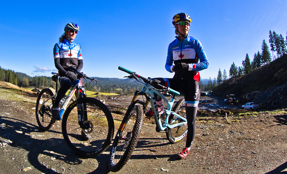 Catharine Pendrel trains at Bear Mountain in Victoria B.C. Canada.