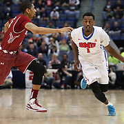 Ryan Manuel, SMU, in action during the Temple Vs SMU Semi Final game at the American Athletic Conference Men's College Basketball Championships 2015 at the XL Center, Hartford, Connecticut, USA. 14th March 2015. Photo Tim Clayton