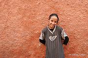 A young girl in the Medina of Marrakesh,Morocco