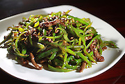 abridge, Ma 053014    Beef with longhorn peppers dish from Dumpling House in Cambridgephotographed on May 30, 2014(Essdras MSuarez/ Globe Staff) G
