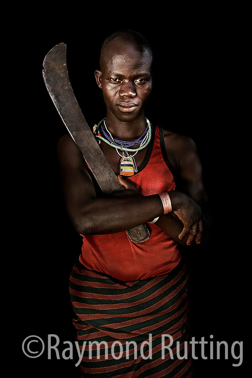 Uganda - Project Eyes on Africa - Portrets of refugee's in three African Country's. Karamojong tribe photo raymond rutting