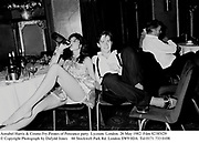 Annabel Harris & Cosmo Fry.Pirates of Penzance party. Lyceum. London. 26 May 1982. Film 82385f29<br /> © Copyright Photograph by Dafydd Jones<br /> 66 Stockwell Park Rd. London SW9 0DA<br /> Tel 0171 733 0108