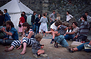 Families at the Vale Earth Fair, Guernsey 1986