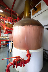 Copper stills at Edradour Distillery in Pitlochry, Scotland, United Kingdom