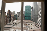 New York, room with a view with a terrace in hotel Andaz overlooking  fifth avenue