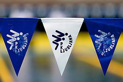 PK Ljubljana's flags during the 35th International Swimming meeting Ljubljana 2010, on May 23, 2010 at Kodeljevo pool, Ljubljana, Slovenia. (Photo by Vid Ponikvar / Sportida)