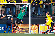 24 OCTOBER 2010: Philadelphia Union goalkeeper Chris Seitz (1) punches the ball out during MLS soccer game against the Columbus Crew at Crew Stadium in Columbus, Ohio on August 28, 2010.