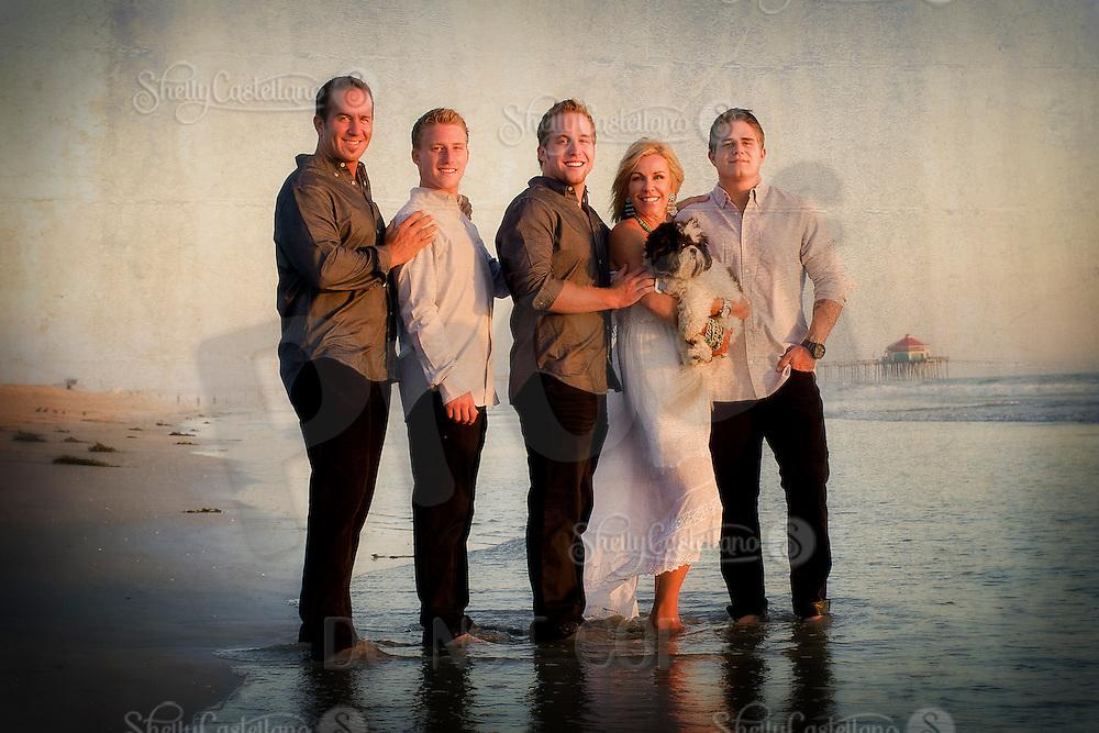 29 September 2012:  The Breunig Family in Huntington Beach, CA.