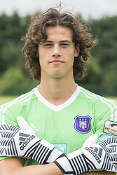 July 11, 2017 - Brussels, BELGIUM - Anderlecht's goalkeeper Mile Svilar poses for photographer at the 2017-2018 season photo shoot of Belgian first league soccer team RSC Anderlecht, Tuesday 11 July 2017 in Brussels. BELGA PHOTO LAURIE DIEFFEMBACQ (Credit Image: © Laurie Dieffembacq/Belga via ZUMA Press)
