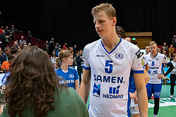 12-05-2019 NED: Abiant Lycurgus - Achterhoek Orion, Groningen<br /> Final Round 5 of 5 Eredivisie volleyball, Orion wins Dutch title after thriller against Lycurgus 3-2 / Auke van de Kamp #5 of Lycurgus