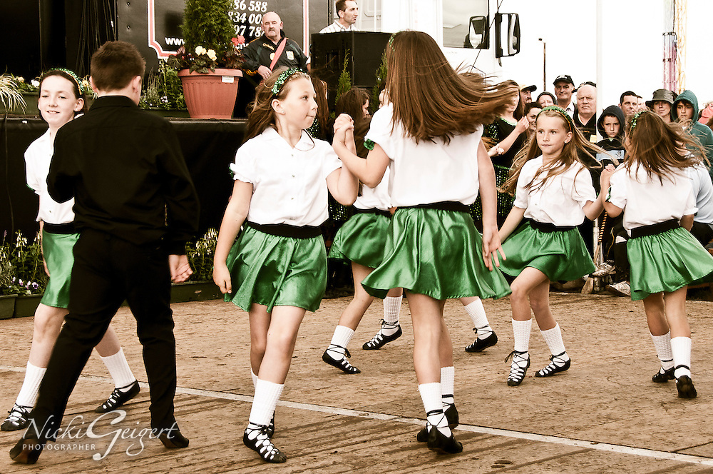 Children performing a traditional Irish dance, Ireland. People and Places fine art photography prints.