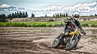 Roger Goldammer races vintage flat track at O'Keefe Ranch in Vernon, B.C.
