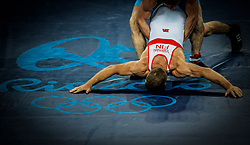 in the men's Greco-Roman 96kg of the Rio 2016 Olympic Games Wrestling events at the Carioca Arena 2 in the Olympic Park in Rio de Janeiro, Brazil, 16 August 2016.