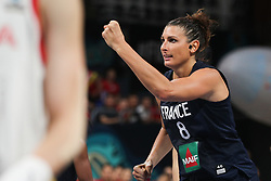 TENERIFE, Sept. 30, 2018  Helena Ciak of France celebrates for a point during the Class 5-6 match between China and France at the 2018 FIBA Women's Basketball World Cup at Santiago Martin in San Cristobal de La Laguna in Tenerife, Spain, Sept. 30, 2018. (Credit Image: © Zheng Huansong/Xinhua via ZUMA Wire)