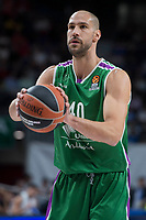 Unicaja James Augustine during Turkish Airlines Euroleague match between Real Madrid and Unicaja at Wizink Center in Madrid, Spain. November 16, 2017. (ALTERPHOTOS/Borja B.Hojas)