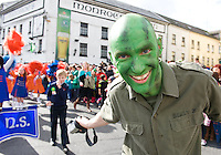 Teacher from Claddagh National School   in Galway St Patrick's day parade. Photo:Andrew Downes Photography.