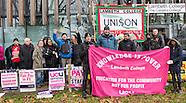 4 Dec. 2014 - Lambeth College UCU staff in escalation of strike action.