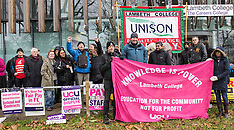 4 Dec. 2014 - Lambeth College UCU staff in escalation of strike action.