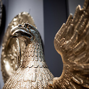 Metal eagle at the Metropolitan Museum of Art in New York, New York.